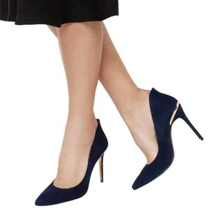 Ted baker savio 2 navy suede 38.5/8 new in box